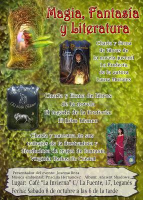 Presentación de La Profecía de Laura Morales y de El Legado de la Profecía: El Lobo Blanco de Abel Murillo