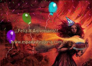 X Aniversario de EspadayBrujeria