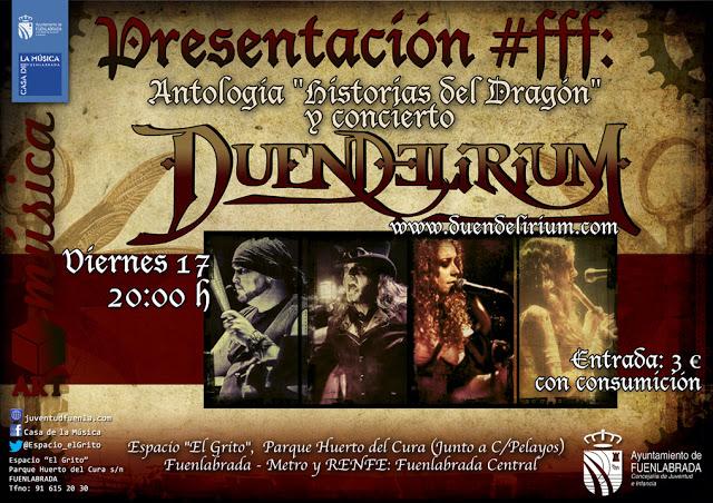 #FFF: Presentación de Historias del Dragón y Concierto de Duendelirium
