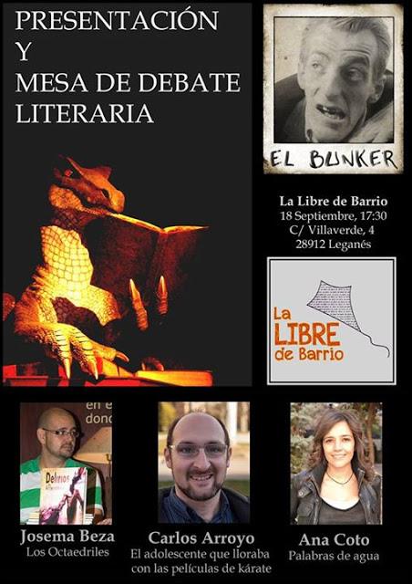Evento: Presentación El Bunker Z + Mesa de Debate Literaria en La Libre de Barrio