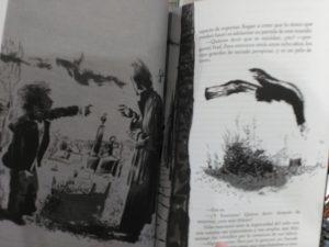Ilustración Interior de El Libro del Cementerio B/N