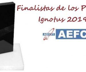 Finalistas de los Premios Ignotus 2019